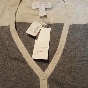 Design History 100% Cashmere sweater NWT sz M!
